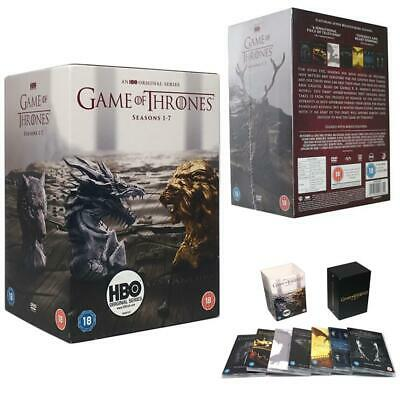 Uk Game Of Thrones: The Complete Season 1-7 Box Set Brand New Dvd,34 Disk Set*
