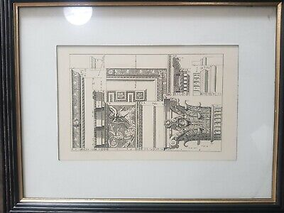 1800's Antique Architectural Sketch drawing