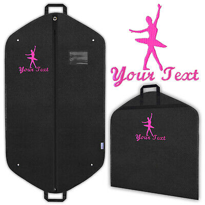 Dance Dancer Ballet Personalised Garment Bags Embroidered Dress Covers Carriers