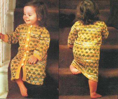 BK278  BABIES / CHILDS 4ply FAIRISLE DRESSING GOWN KNITTING PATTERN
