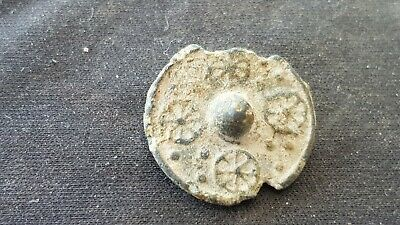 An ultra rare and stunning Medieval lead mount. A must read description. L135v