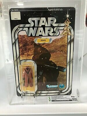 Vintage 1977 Kenner Star Wars Vinyl Cape Jawa CAS 85+ Figure W/OG Card & Bubble