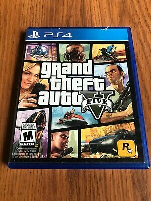 Grand Theft Auto V (Sony PlayStation 4, 2014) Complete