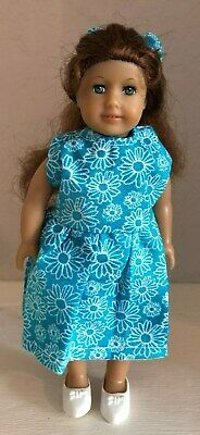American Girl Mini Doll, Felicity, in a Pretty Handmade Dress, with White Shoes