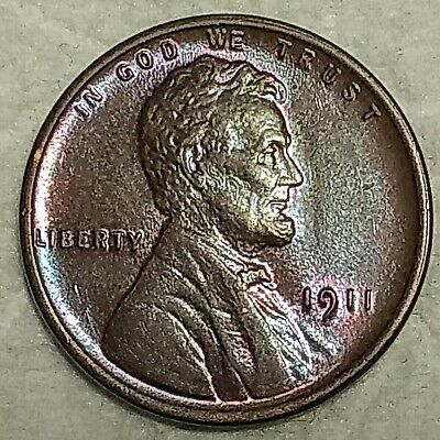 Brilliant Uncirculated 1911-P Lincoln Cent! Beautifully toned specimen!