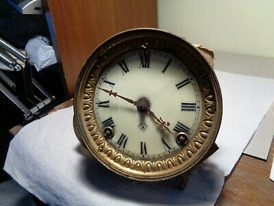 Antique-Ansonia- Royal Bonn-China Clock Movement-Patent 1882-To Restore-#T397N