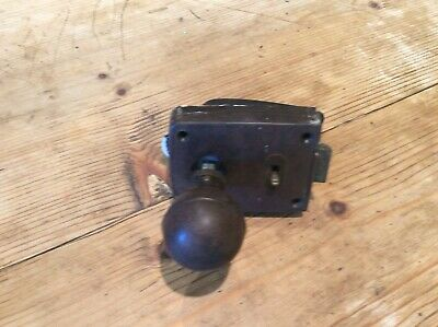 vintage door lock with two bakelite handles (1930's)