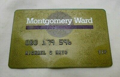 Vintage Montgomery Wards VIP Gold Credit Card