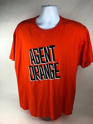 Rare Vintage Agent Orange punk Rock Band T-shirt Orange Size XL - FSTSHP