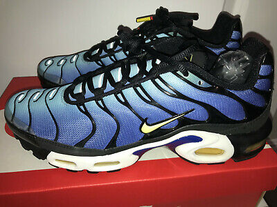 low priced 87e27 9aed7 New Nike Air Max Plus Hyper Blue 604133-475 Size 9.5 Chamois Blk