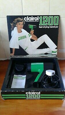 Vintage Clairol 1200 Hairdryer.1980'S.made In West Germany