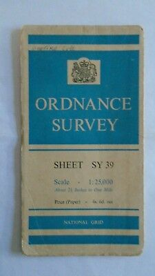 """Ordnance Survey 2.5"""" Map 30/SY39 Lyme Regis 1959 Charmouth, Uplyme, Catherston"""
