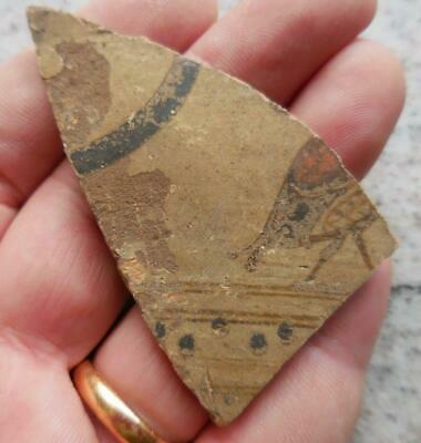 Fine Ancient Greek Painted Pottery Fragment With Bird 500Bc Found France