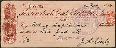 Standard Bank of South Africa Limited, Darling branch, 1929, text in English,...