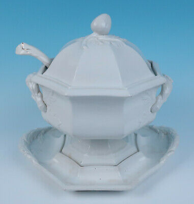 c.1850 Large Staffordshire Ironstone Soup Tureen & Undertray Venables Mann