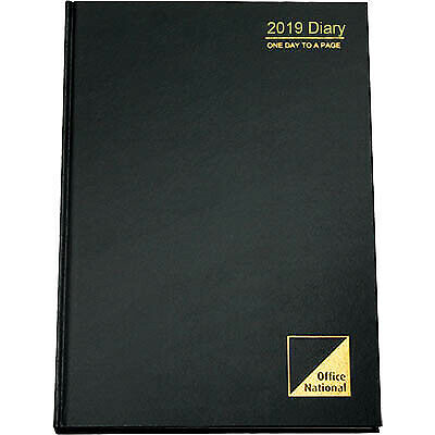 Office National 2019 Diary Day To Page 15 Minutes A4 BLACK