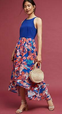 NEW Anthropologie Isabella Floral High-Low Dress by Hutch  Size S