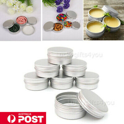 5/10X 10M 30ML Aluminum Cosmetic Tin Pot Lip Balm Jar Container Oil Wax Empty AU
