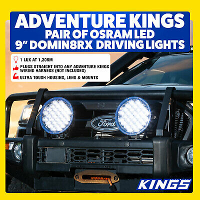 "OSRAM  9"" LED Driving Lights Round 4x4 Offroad Work Pair Flood Car 4WD UTE"