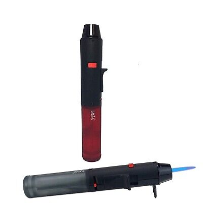 1X Eagle Torch PEN Jet Flame Gun Lighter Butane Refillable Semi Transparent Tank