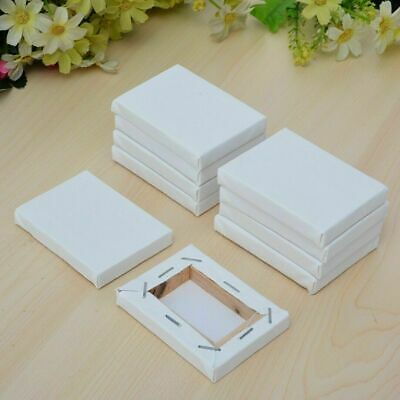 Blank White Mini Small Stretched Artist Canvas Art Board Acrylic Oil Paint RF