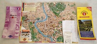 ROMA City Map 2002 Excursions booklet City News brochure Bus Ticket stub Lot