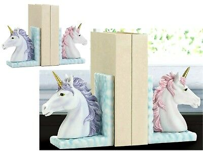 Magical Purple & Pink Unicorn Bookends ** Nib