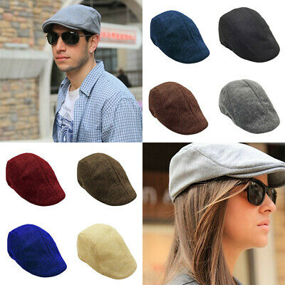 Mens Gatsby Ivy Hat Golf Driving Summer Sun Flat Beret Cabbie Driver Newsboy Cap