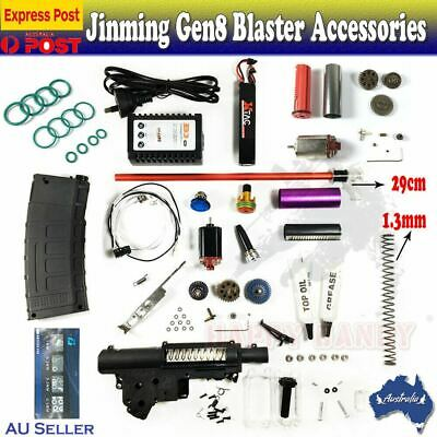 UPGRADE Gearbox Metal Parts Gel Ball Blaster JinMing J8 Gen8 M4A1 Accessories AU