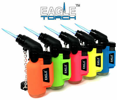 1 Wind Proof EAGLE TORCH 45 Degree NEON Lighter Adjustable Refillable Outdoor