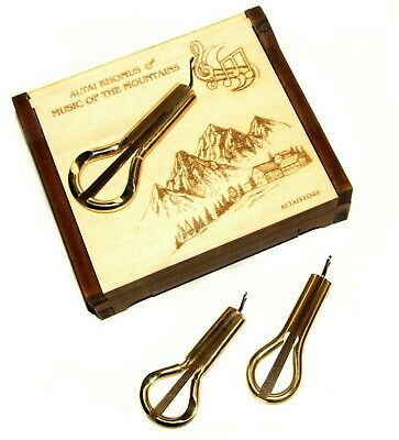 Jew's harp jaw/mouth harp khomus maultrommel 3 in cedar box by Potkin brothers