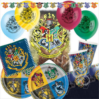 Harry Potter Birthday Party Supplies Decorations Balloons Plates Cups Bundle Set