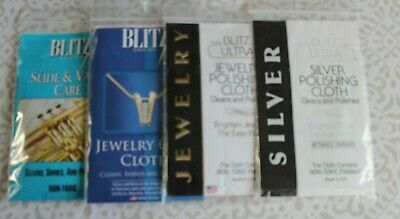 Blitz Jewellery XL Cleaning Polish Cloths Gold Silver Platinum /Slide Valve Care
