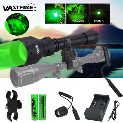 Zoomable 500 Yards Predator Long Range Hunting Flashlight Lamp Red Green Fox