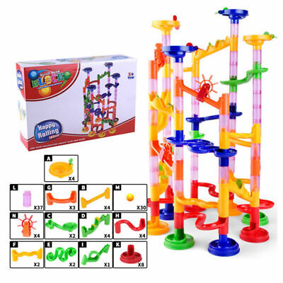 105 pieces fun Construction DIY Marble race of the race Labyrinth Balls Z1G1