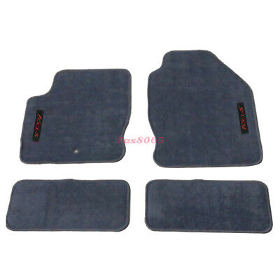 Fits 00-07 Ford Focus Gray Nylon Floor Mats Carpets w/ Red Focus Embroidery