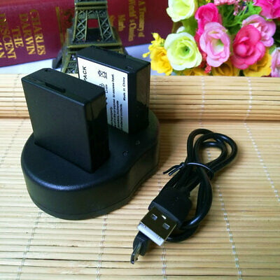 2x BATTERY + Charger FOR Canon EOS 1100 D, 2000D, 4000D / EOS Rebel T3, Rebel T5