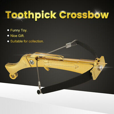 Super Funny Toothpick Crossbow Shooting Archery Crossbow Model Ornament Gift ZY
