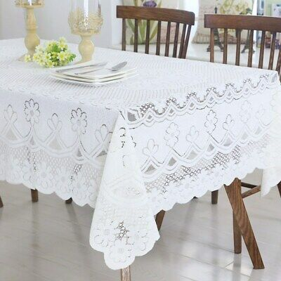 Embroidered Decorated Lace Hollow Rectangular Party Tablecloths