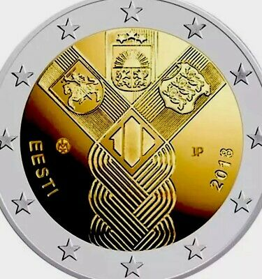 Estonia Coin 2€ Euro 2018 Commemorative Baltic Independence New UNC from Roll