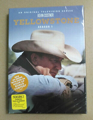 Yellowstone: First Season 1 One (DVD, 2018, 4-Disc Set) Sealed USA seller