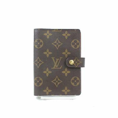Authentic Louis Vuitton Diary Cover Agenda PM Browns Monogram 348197