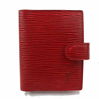 Authentic Louis Vuitton Diary Cover Agenda Mini  Reds Epi 369063