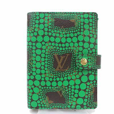 Authentic Louis Vuitton Diary Cover Agenda PM Yayoi Kusama Greens 363333