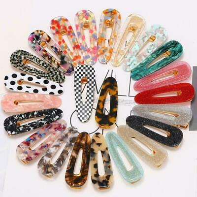 120 Styles Leopard Acid Acetic Acrylic Pin Barrette Hair Clips Girl
