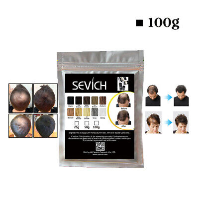 Sevich 100%Natural Hair Building Thickening Fibers Refill For Hair Loss 100g/bag