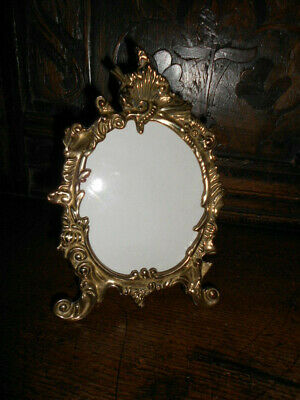 Beautiful Antique Vintage Cast Iron / Brass Easel Photo Frame