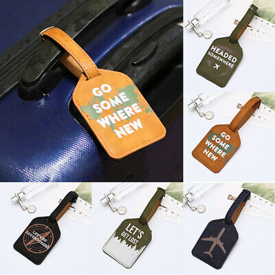 Printing Travel Luggage Tag Suitcase Bag Address Label Name Id Card Tags Holder