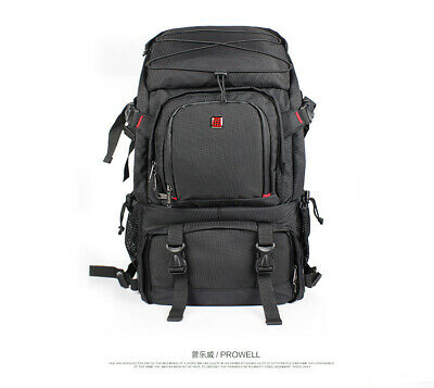 Large Black DSLR SLR Camera Lens Backpack Rucksack For Canon Nikon Laptop Bag#