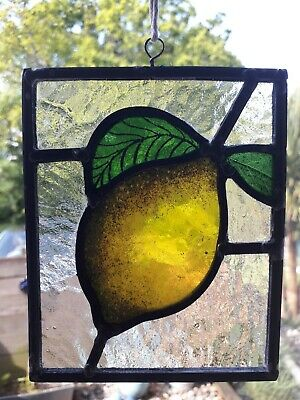 Stained glass lemon panel